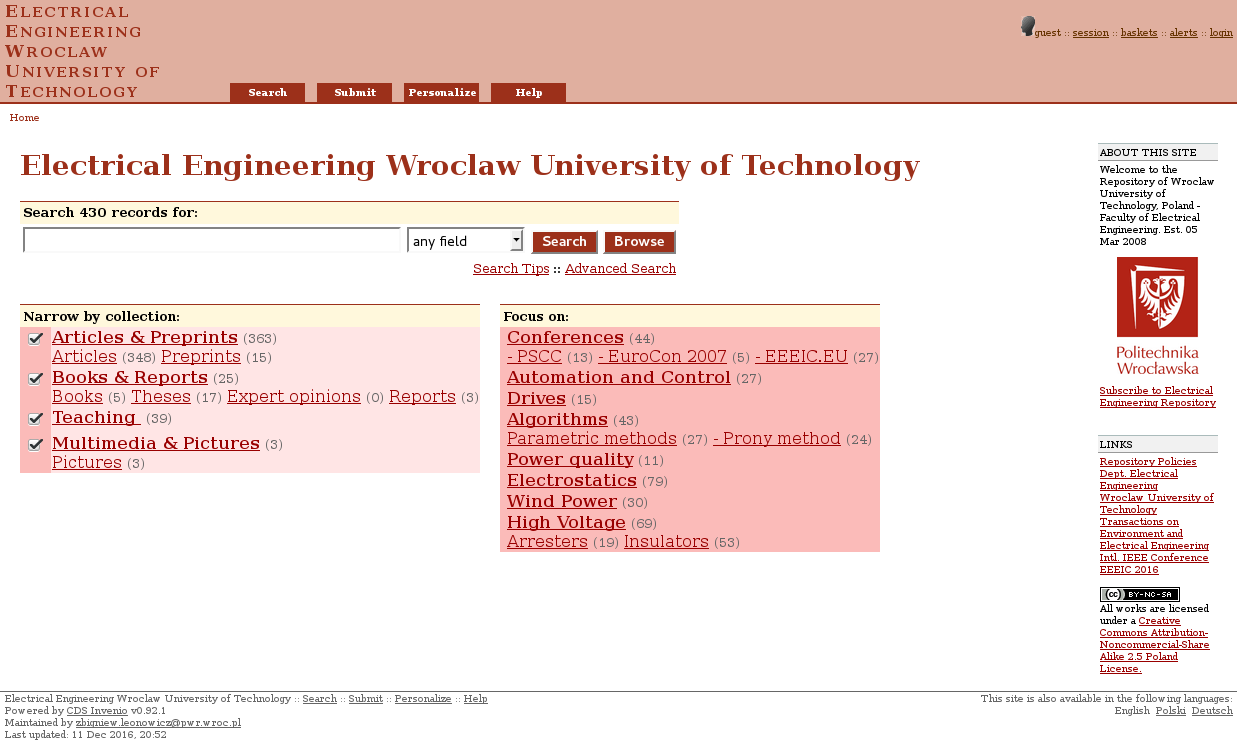 Electrical Engineering Wroclaw University of Technology